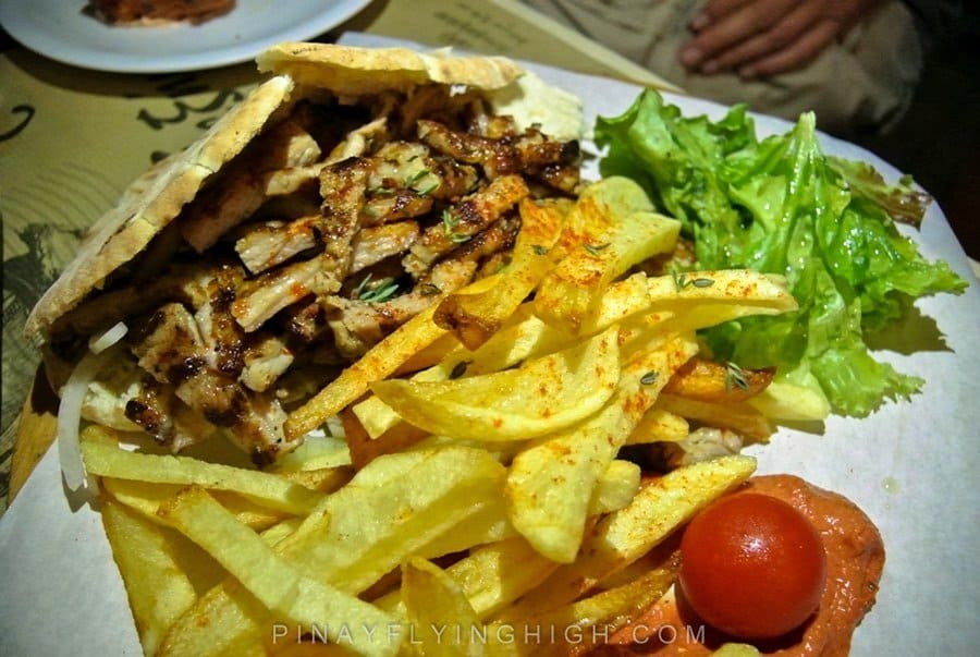 travelers favorite food greek gyros