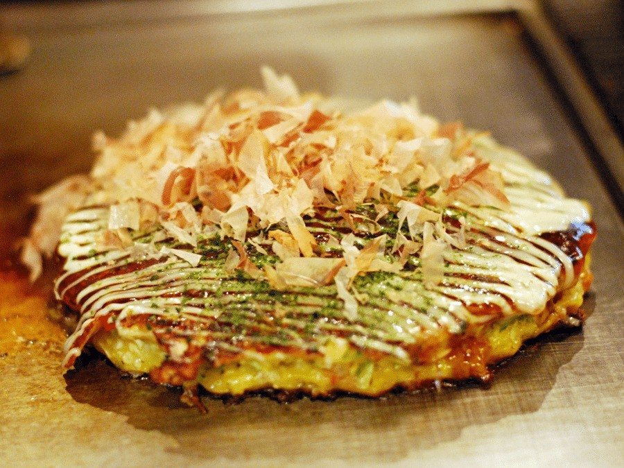 travelers favorite food okonomiyaki