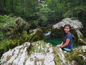 solo hiking the beautiful mostnica gorge