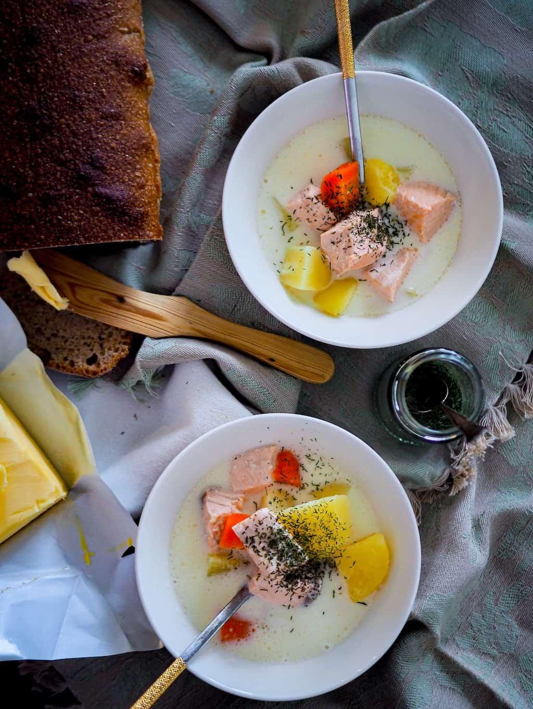Lohikeitto (Salmon soup)