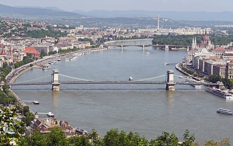 See the beautiful Pest from the Buda side from the Gellért Hill