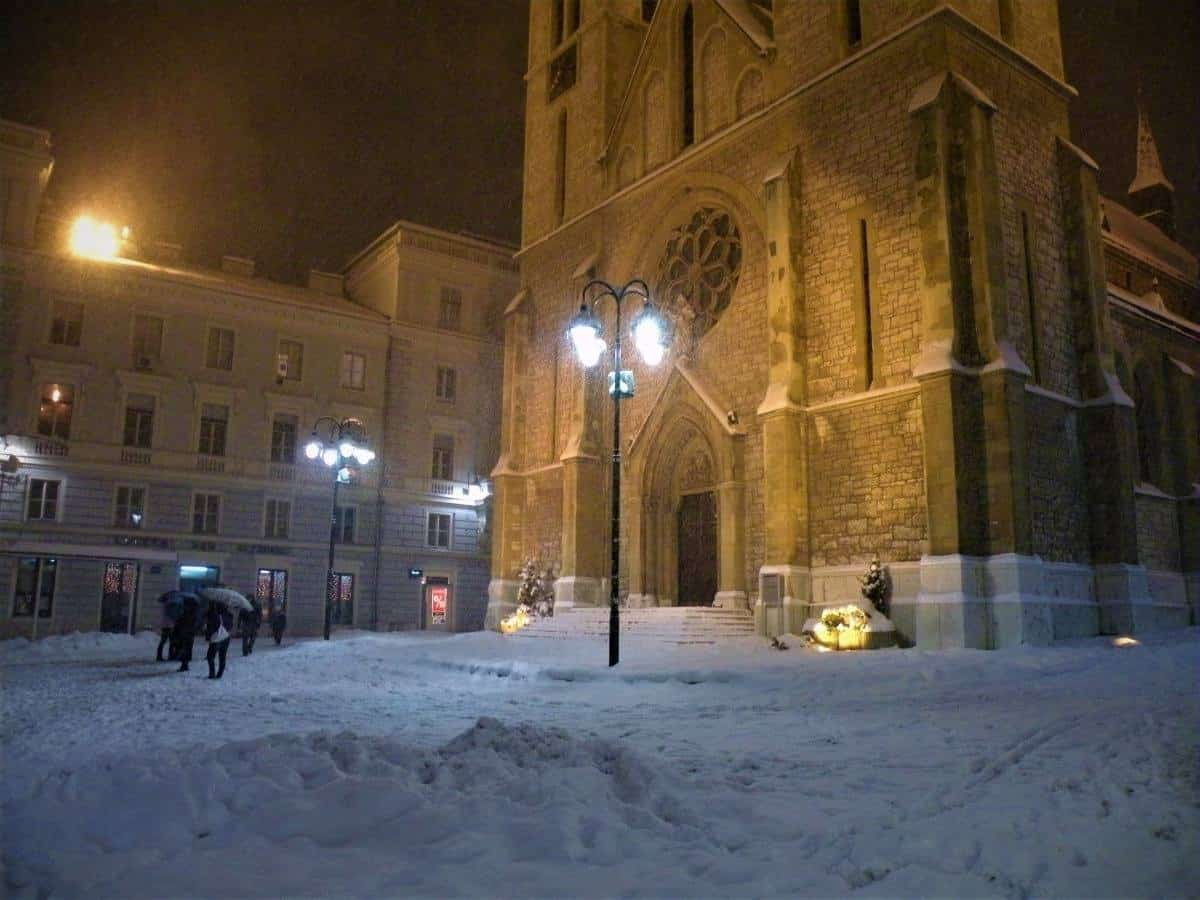 Sarajevo Cathedral in winter Bosnia and Herzegovina