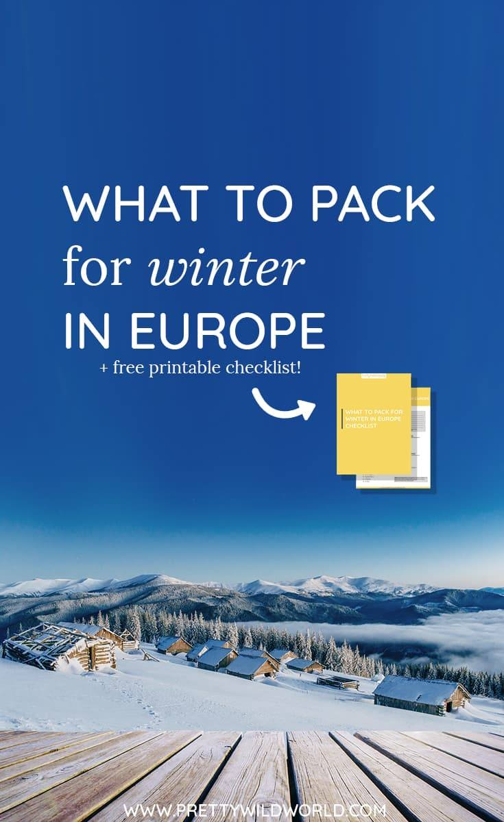 FREE CHECKLIST INCLUDED!!! Don't know what to pack for winter in Europe? Here's the perfect post for you! Remember: you're only cold because you didn't wore the right clothes :)