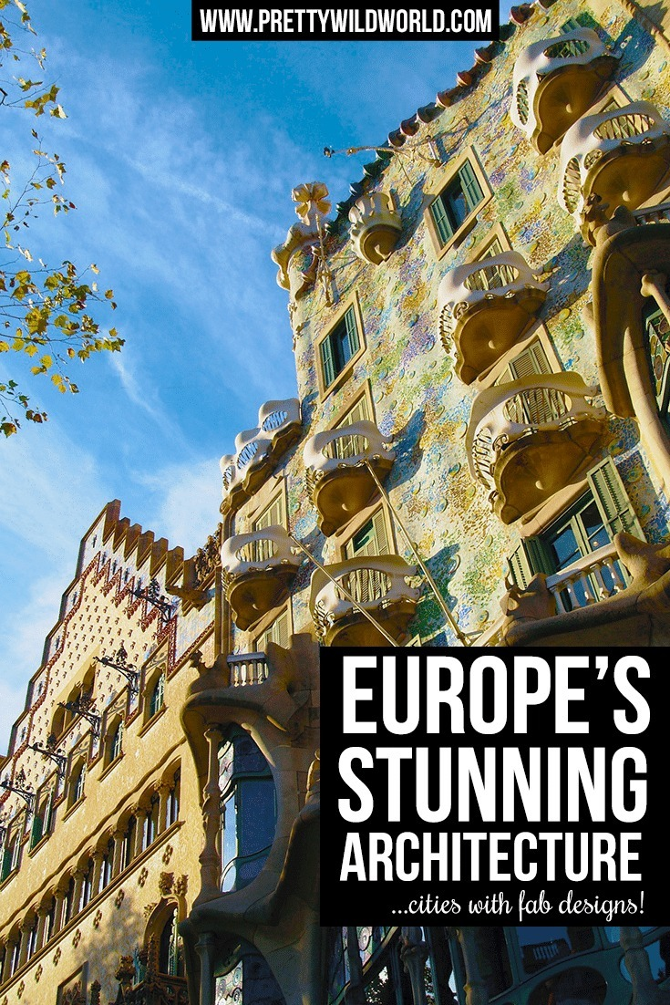Fall in love with Europe's romantic architectures ranging from Gaudí's gothic designs to Art Noveu of Paris. Europe has it all in terms of architectutre!