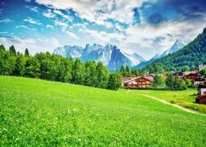 picturesque mountains towns in europe