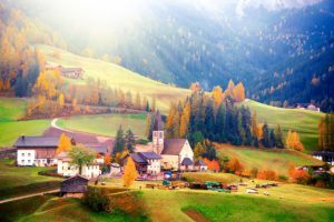 FAIRYTALE TOWNS AND VILLAGES IN EUROPE Santa Maddalena Dolomites Italy