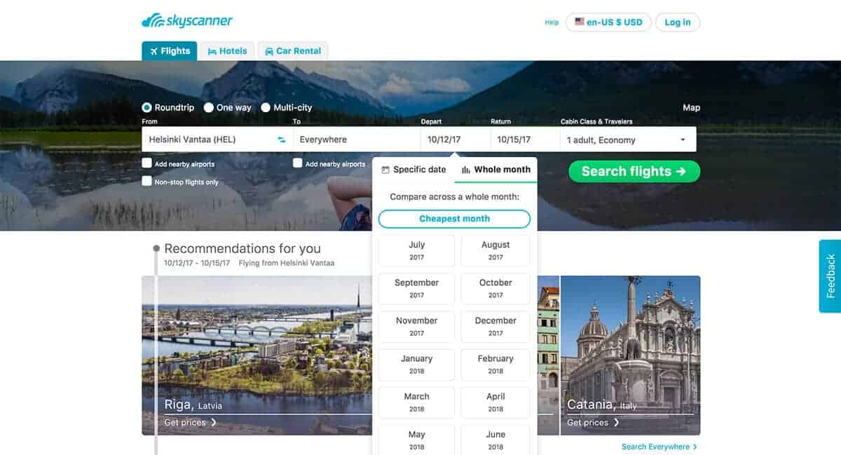 How to Find Cheap Flights Everywhere Using Skyscanner