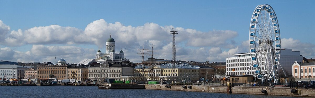 A panorama view of Helsinki