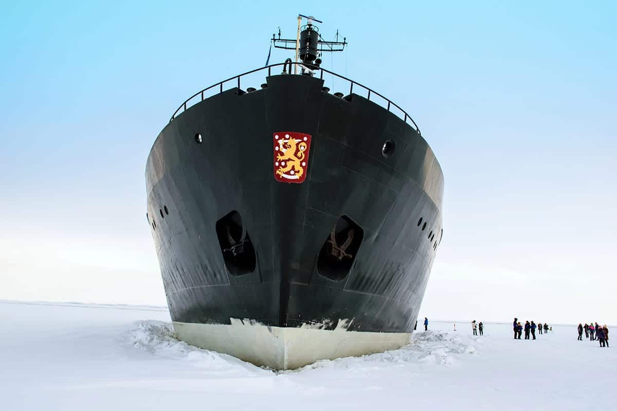 ICE BREAKER IN KEMI, FINLAND