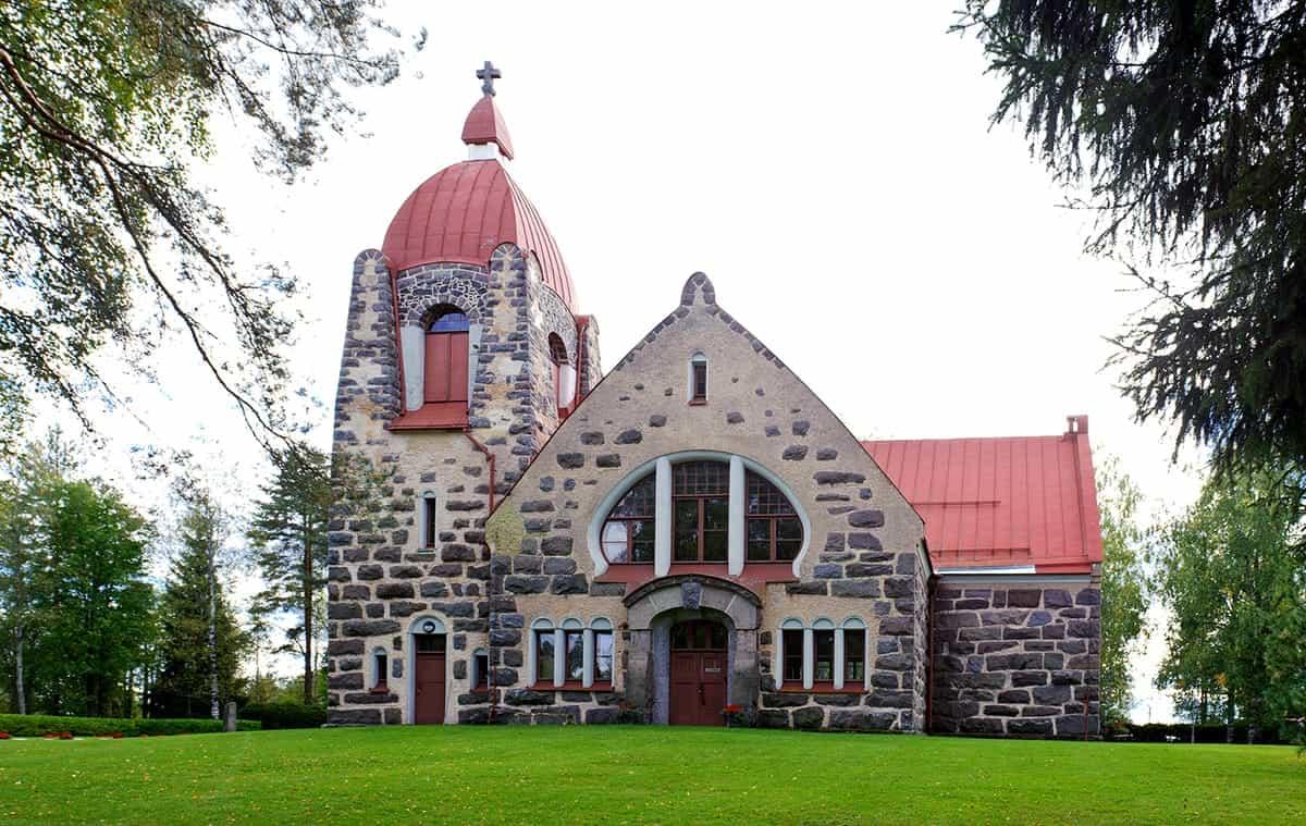 STONE CHURCH IN KUHMO, FINLAND