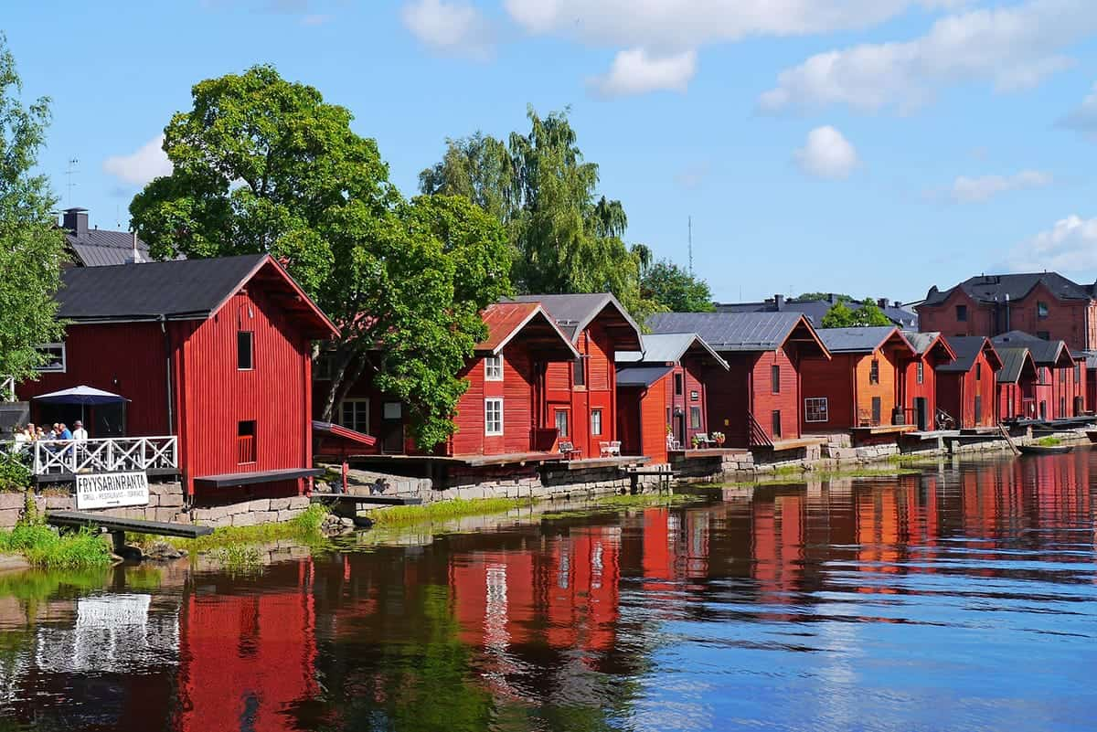 RED HOUSES IN PORVOO IN FINLAND