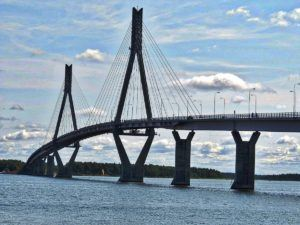 THE FAMOUS REPLOT BRIDGE THAT CONNECTS REPLOT AND VAASA IN VAASA, FINLAND