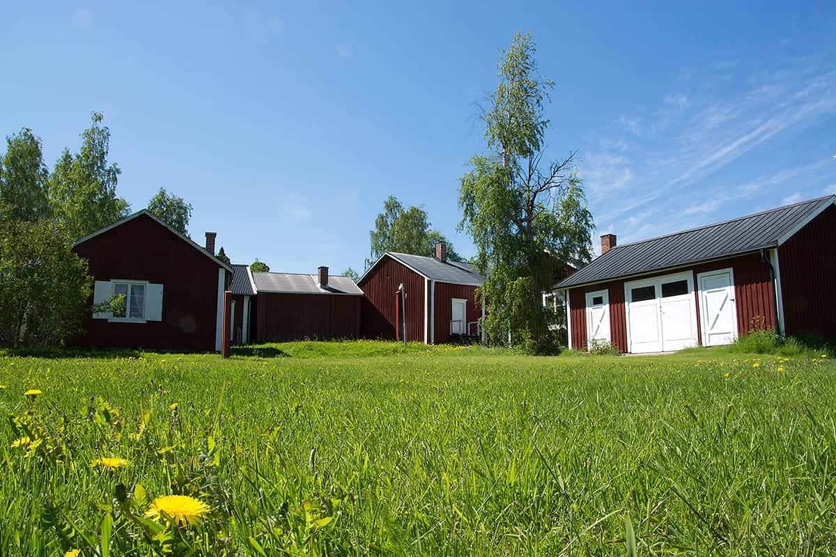 Gammelstad, Sweden and its beautiful country side barns