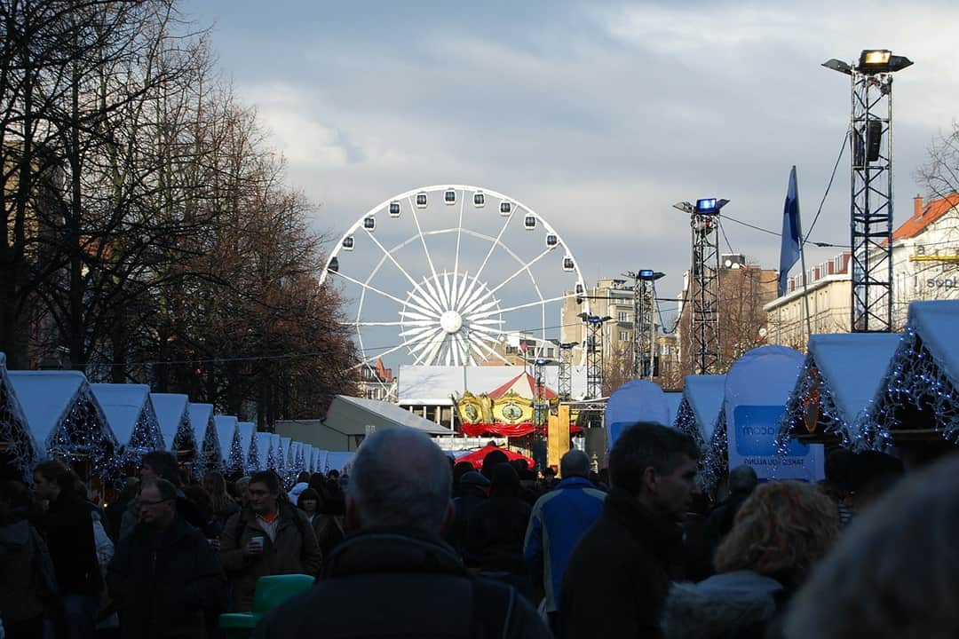 Christmas market in Brussels, Belgium