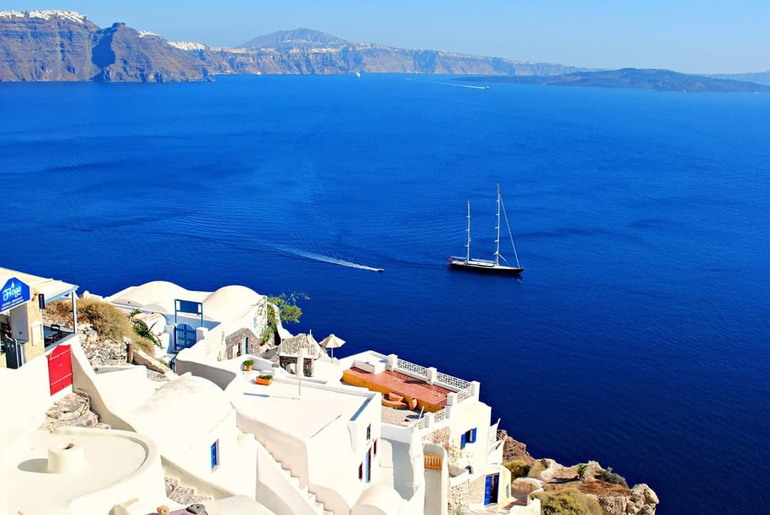 Things to do in Santorini visit Greece tourism enjoy a boat trip around Santorini Islands