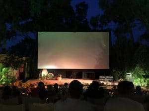 Things to do in Santorini visit Greece tourism open air cinema