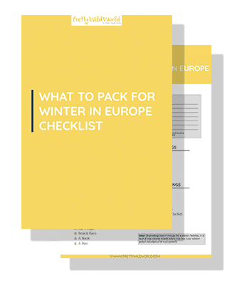 WHAT TO PACK FOR WINTER IN EUROPE CHECK LIST FREEBIE optin image