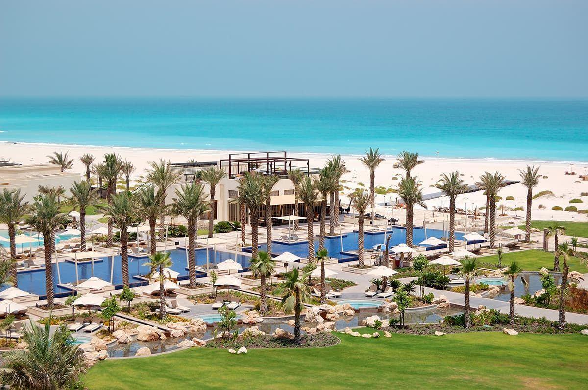 Go to Saadiyat Island in Abu Dhabi