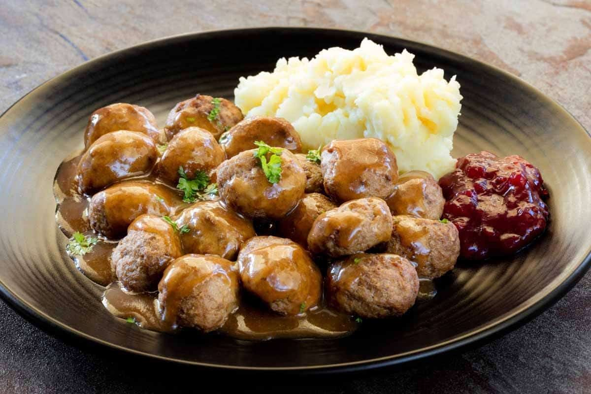stockholm guide things to do in stockholm swedish meatballs with mashed potatoes and lingonberry jam