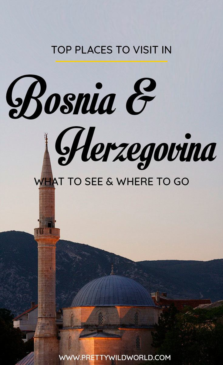 Planning a trip to Bosnia and herzegovina soon? Check out this awesome guide on the best places to visit in Bosnia including the when is the best time to visit Bosnia, how to travel to Bosnia, where to stay in Bosnia, how to get around Bosnia, where to stay in Bosnia, things to do in Bosnia, what to do in Bosnia, best attractions in Bosnia, and the best Bosnia points of interests. Save this Bosnia travel guide to your travel board so you can find it later! #Bosnia #BosniaTravel #Travel