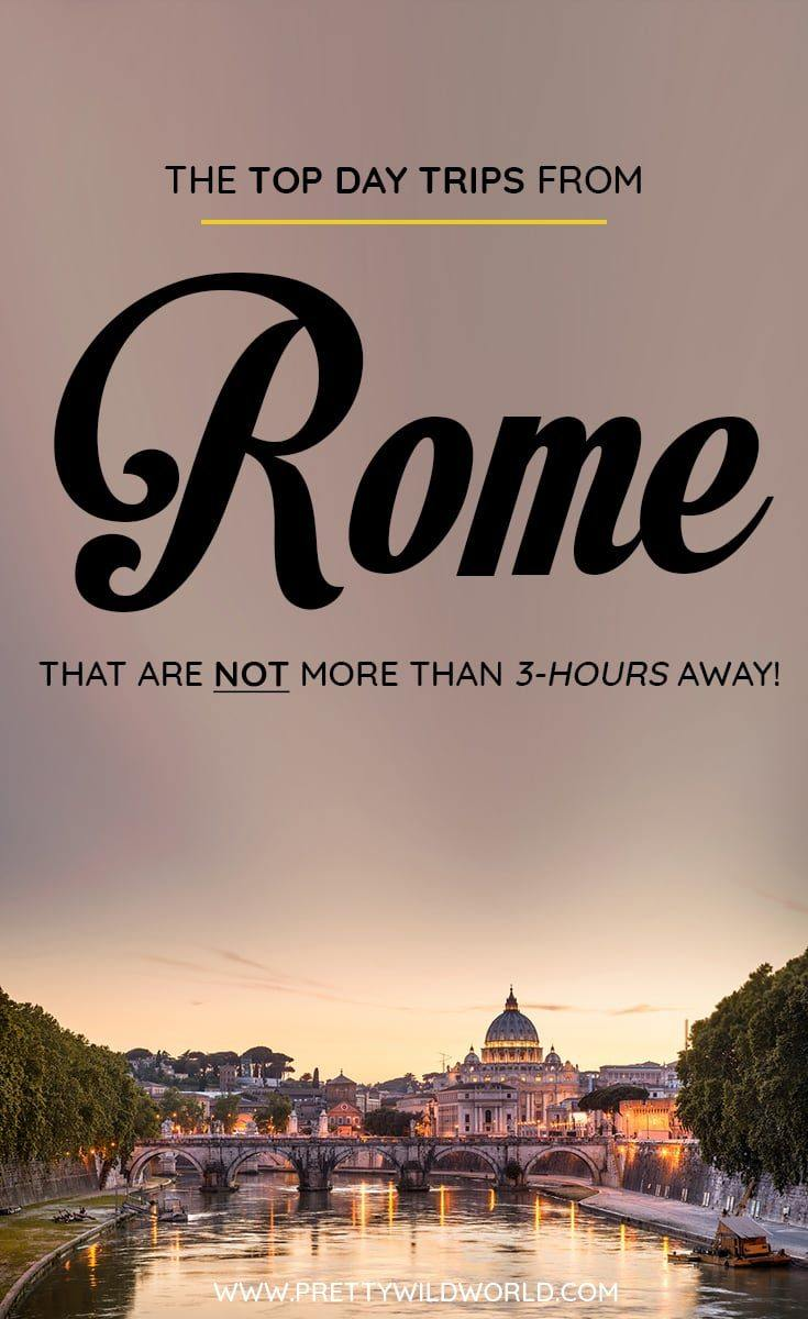 Are you planning to visit Rome soon? Do you know that there are a lot of day trips from Rome you can do? In this post you'll learn about the top Rome day trips, things to do in Rome, how to spend your time in Rome, learn about Rome secrets and its surrounding areas. Save this Rome travel guide to your travel board so you'll find it easy later! #Rome #italy #europe #Daytrips #Travel