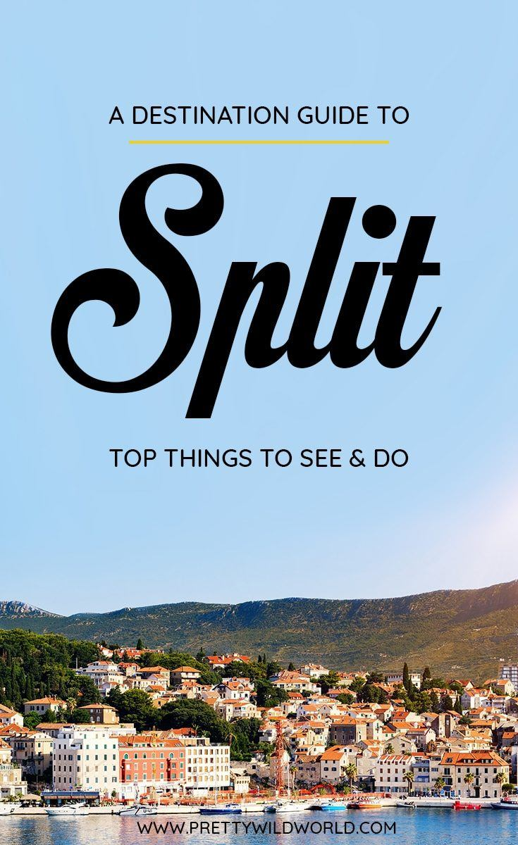 Planning a trip to the beautiful city of Split, a lovely city in Croatia? Check out this first-timer's guide to Split that includes all the top things to do in Split, places to go in Split, places to see in Split, what to see in Split, and places to stay in Split. Save this Split travel guide in your travel board so you'll find it later! #Split #Croatia #europe #travel #travelblog
