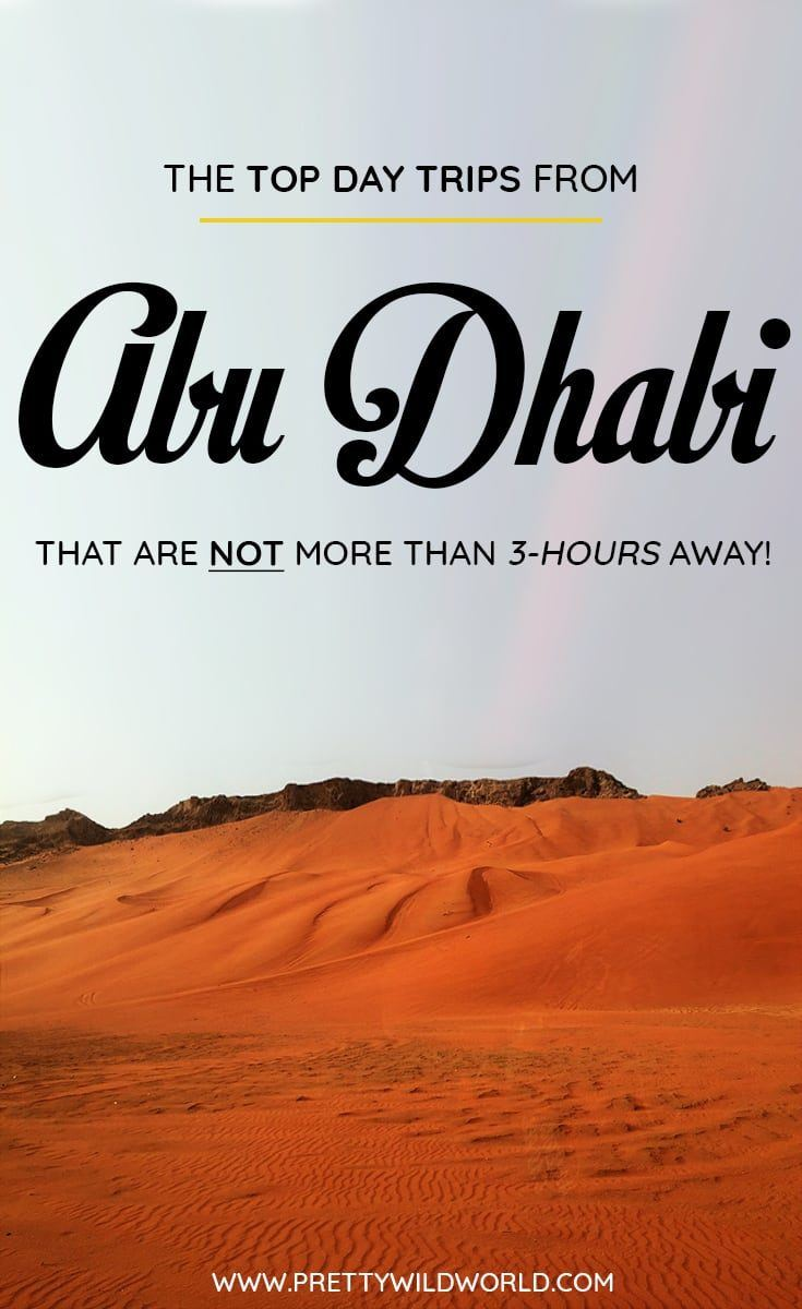Are you planning to visit Abu Dhabi soon? Do you know that there are a lot of day trips from Abu Dhabi you can do? In this post you'll learn about the top Abu Dhabi day trips, things to do in Abu Dhabi, how to spend your time in Abu Dhabi, learn about Abu Dhabi secrets and its surrounding areas. Save this Abu Dhabi travel guide to your travel board so you'll find it easy later! #AbuDhabi #AbuDhabi #asia #Daytrips #Travel