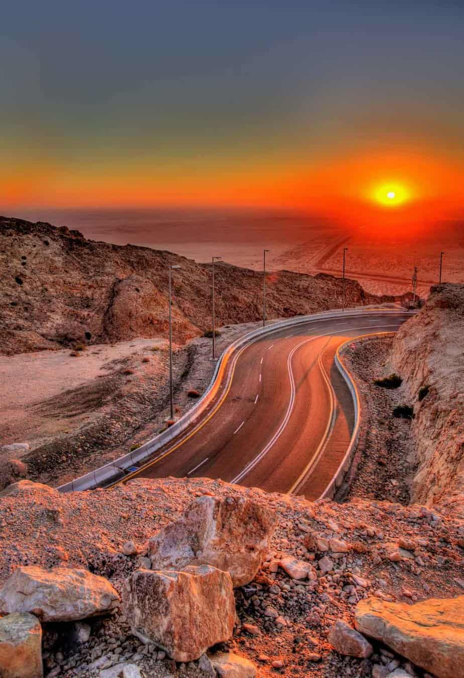 top day trips from abu dhabi uae sunset from jebel hafeet mountain