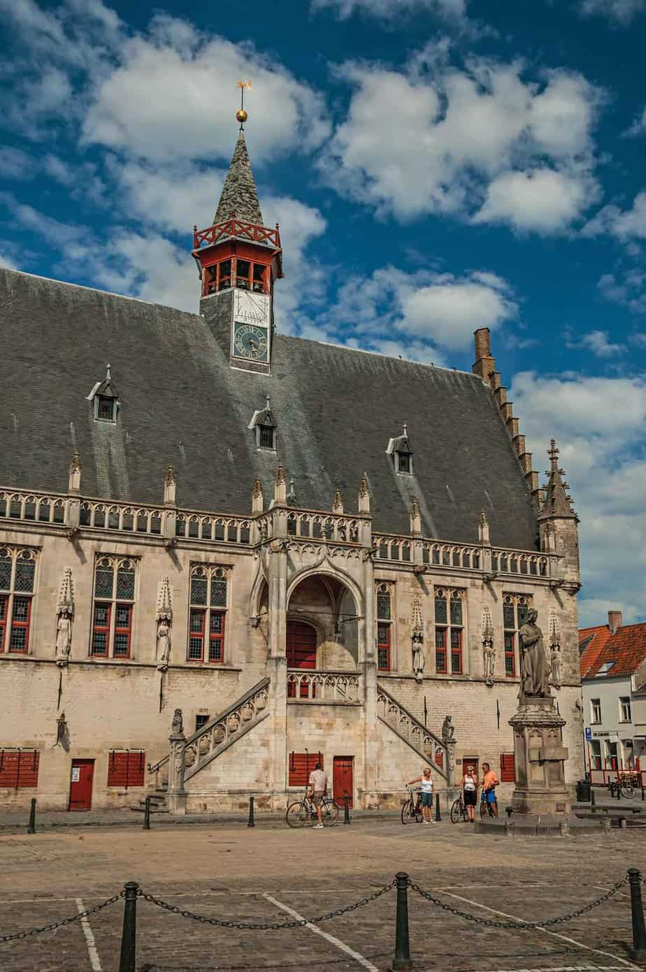 top day trips from ghent belgium damme town hall