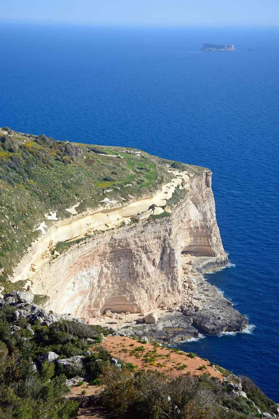top day trips from malta dingli cliffs