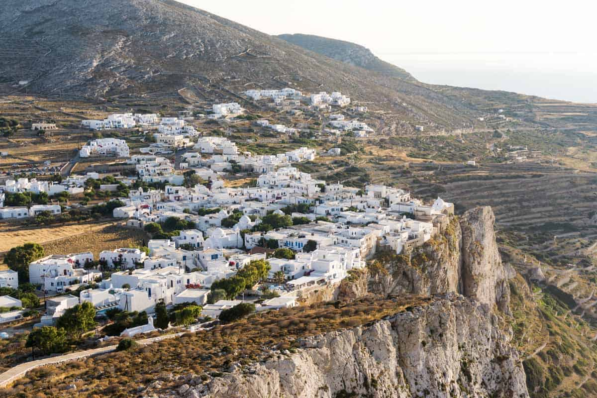top day trips from santorini greece folegandros