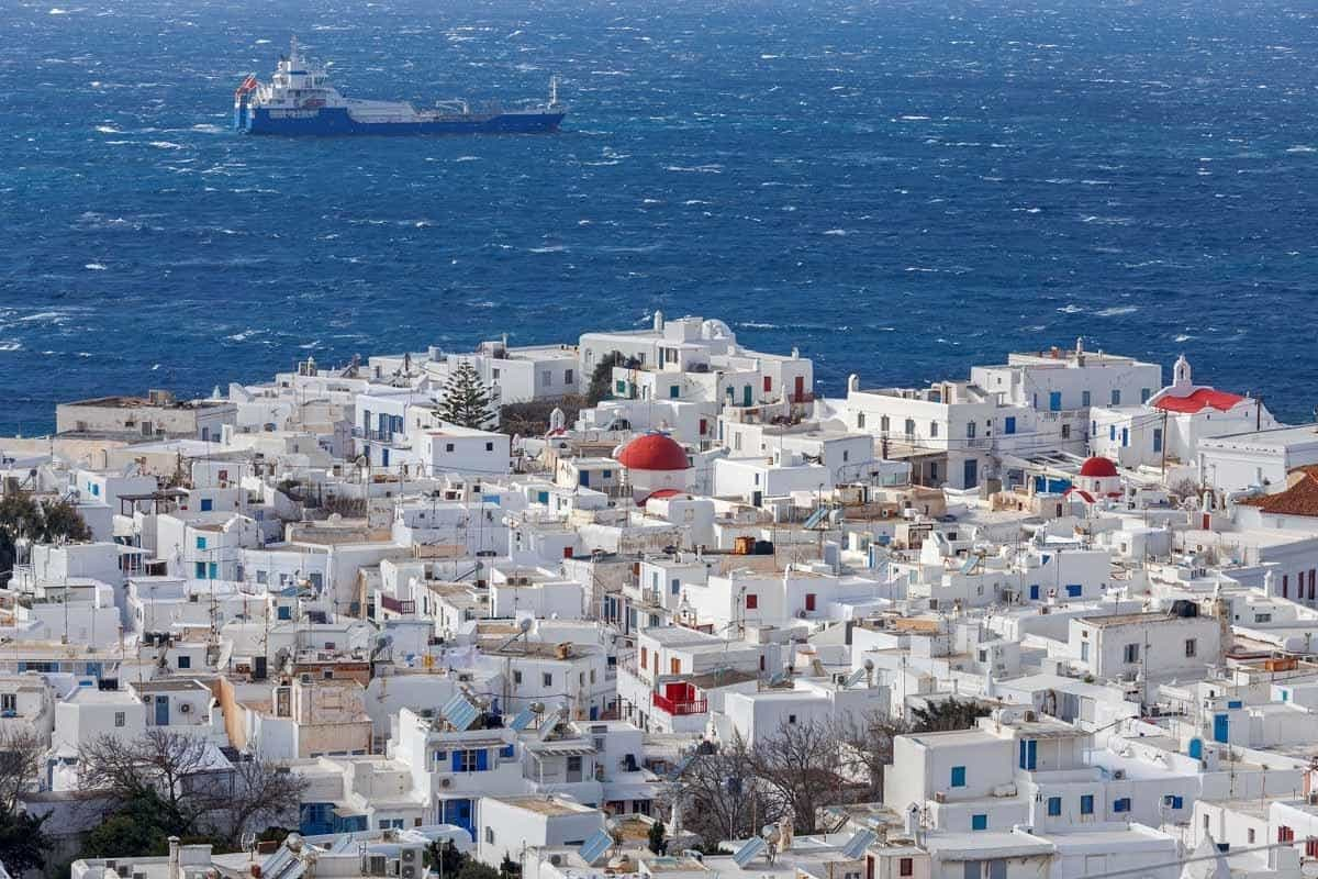 top day trips from santorini greece mykonos chora