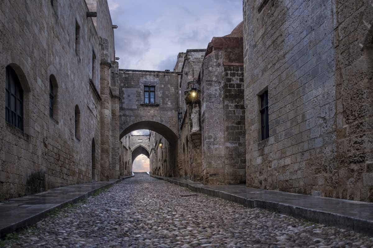 top day trips from santorini greece rhodes old town street of knights