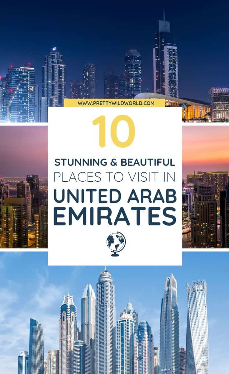 Planning a trip to UAE soon? Check out this awesome guide on the best places to visit in UAE including the when is the best time to visit UAE, how to travel to UAE, where to stay in UAE, how to get around UAE, where to stay in UAE, things to do in UAE, what to do in UAE, best attractions in UAE, and the best UAE points of interests. Save this UAE travel guide to your travel board so you can find it later! #UAE #UAETravel #Travel