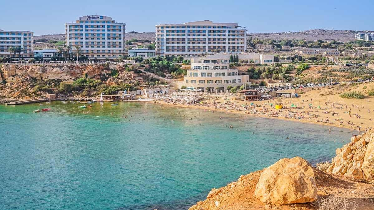 points of interest where to go and places to visit in malta golden bay beach