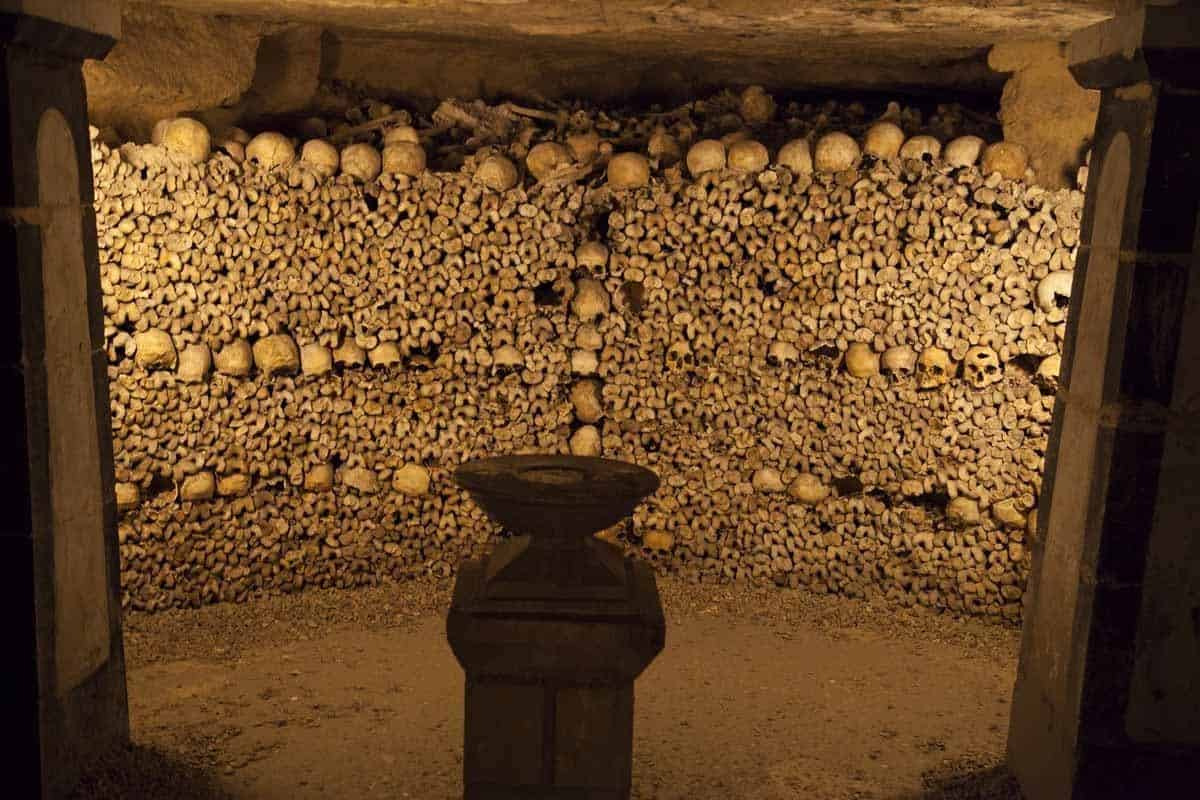 haunted places in europe to visit this halloween catacombs paris
