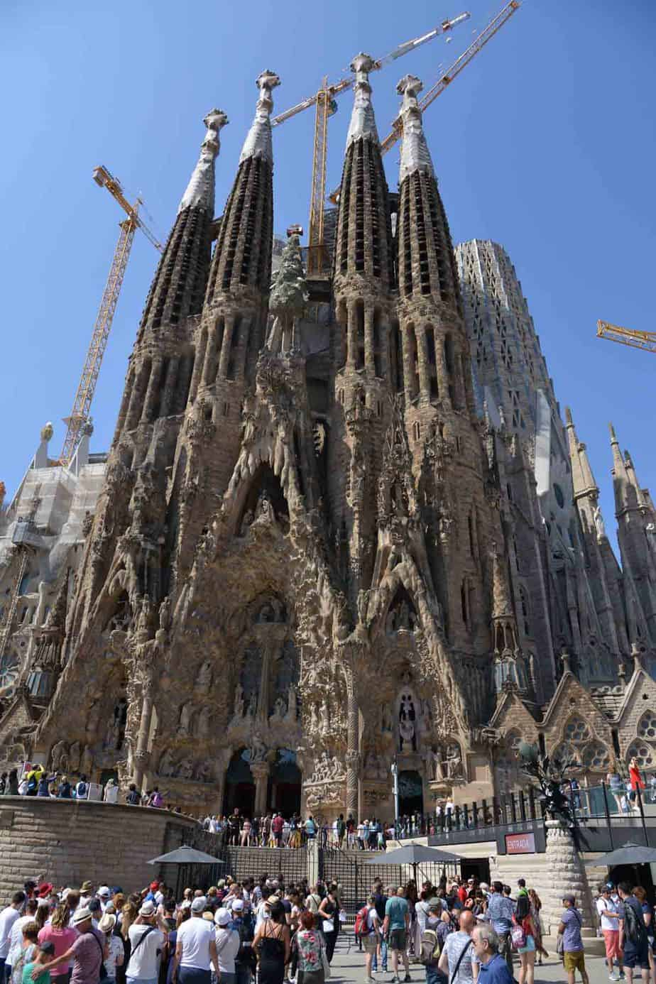 most visited tourist attractions in europe sagrada familia barcelona spain
