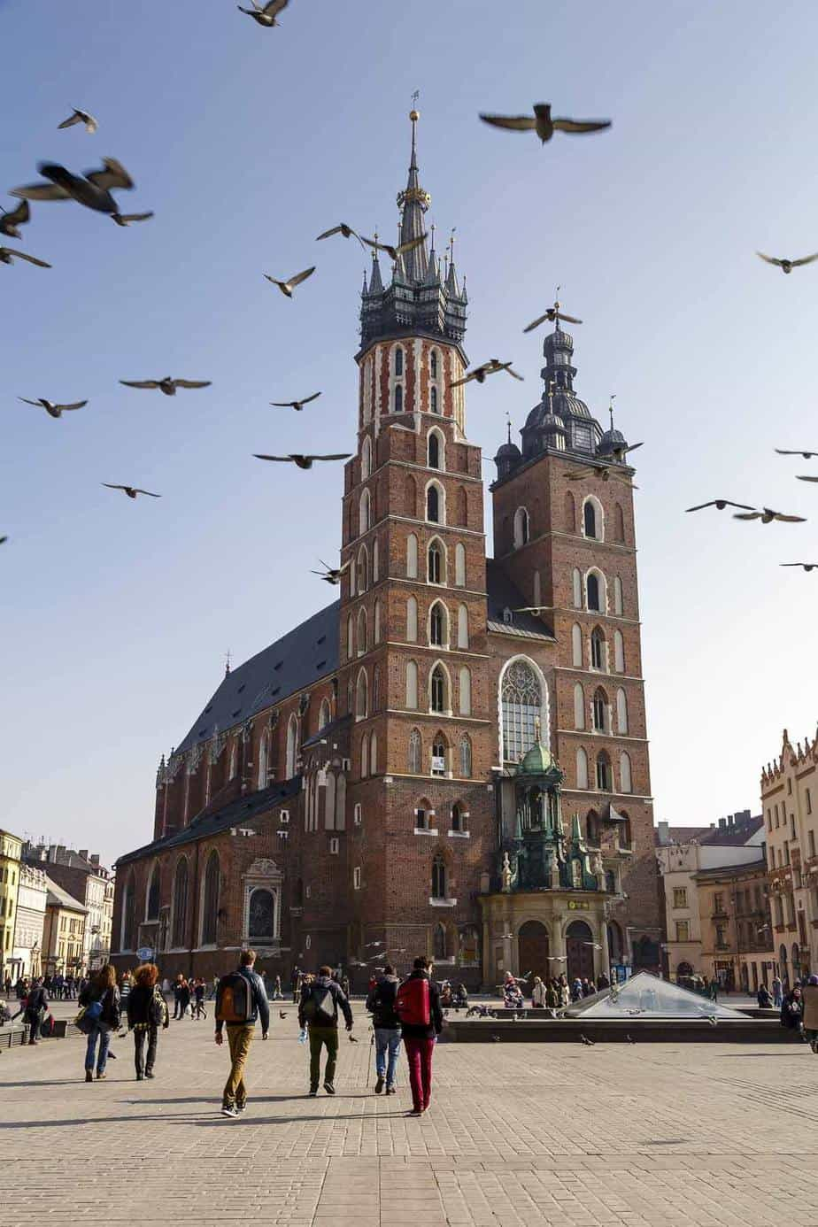 top tourist attractions in krakow poland church of virgin mary