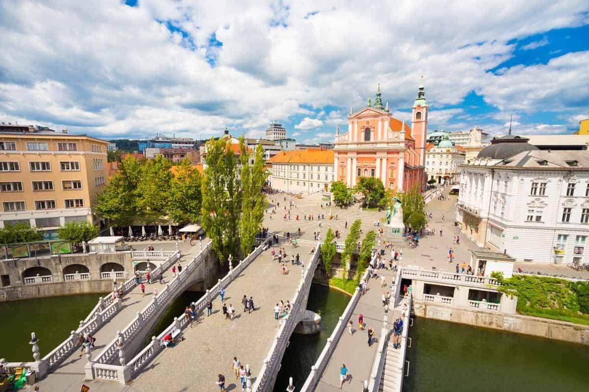 top tourist attractions in ljubljana slovenia triple bridge