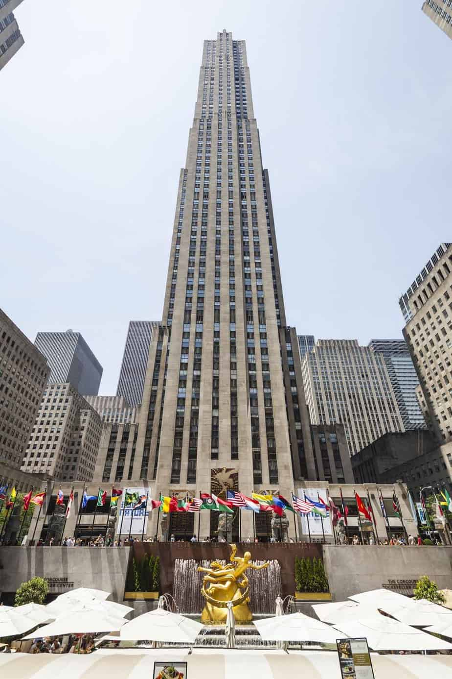 top tourist attractions in new york city usa rockefeller center