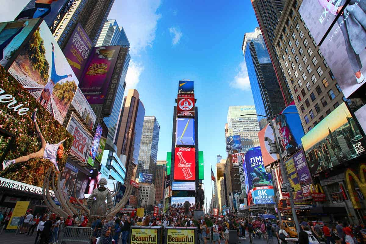 top tourist attractions in new york city usa times square