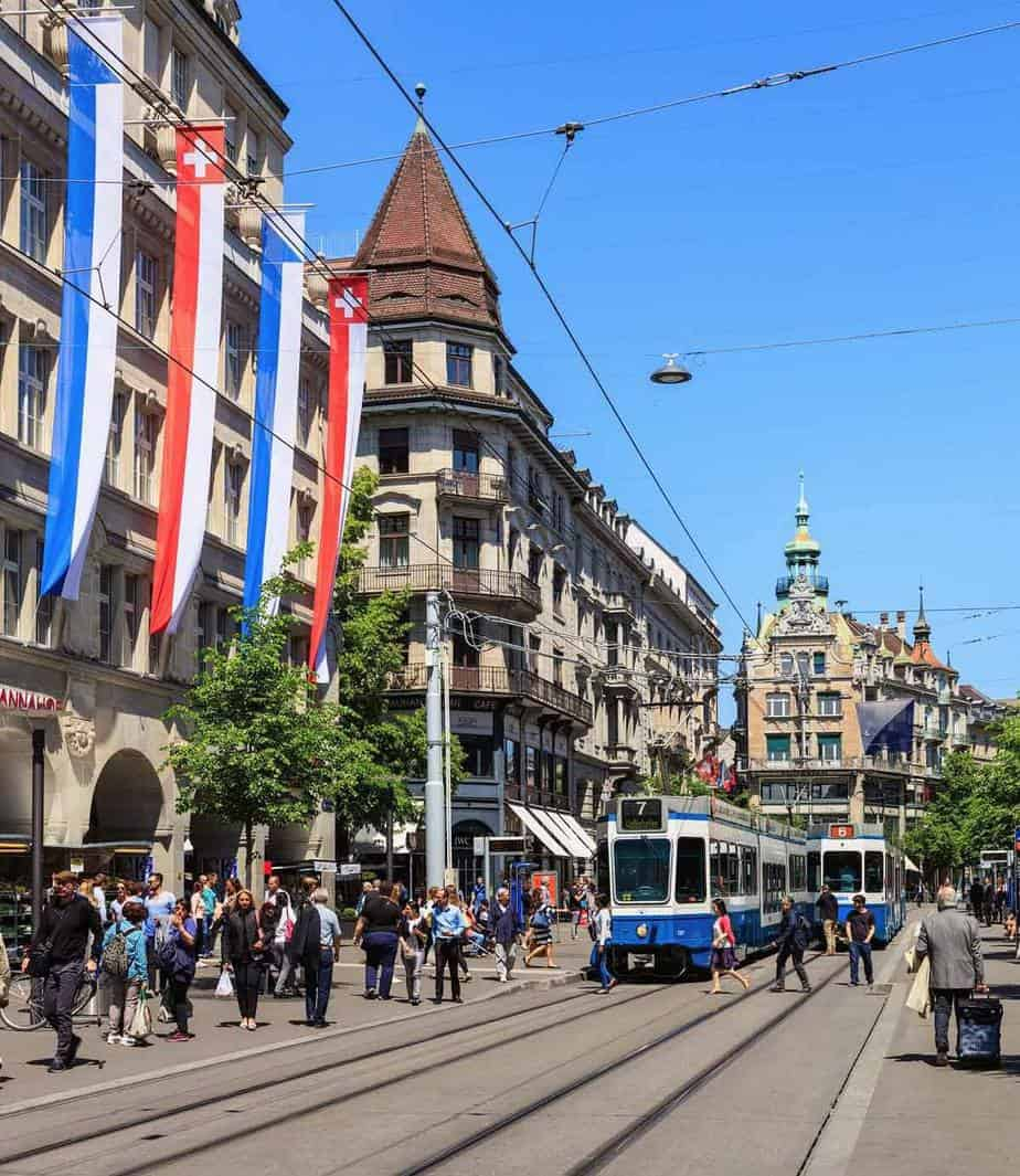 top tourist attractions in zurich switzerland bahnhofstrasse