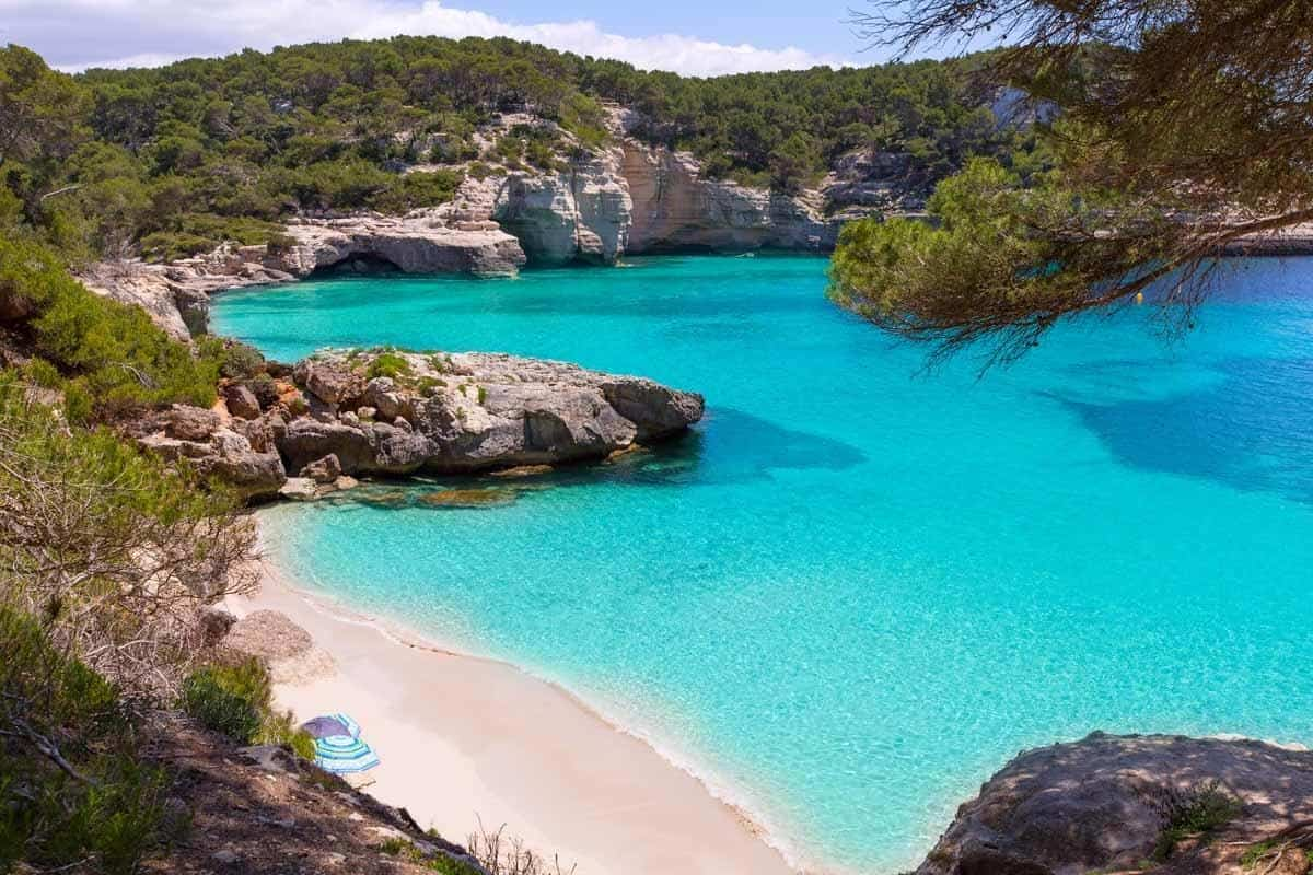 best beaches to visit in europe mitjaneta beach menorca spain