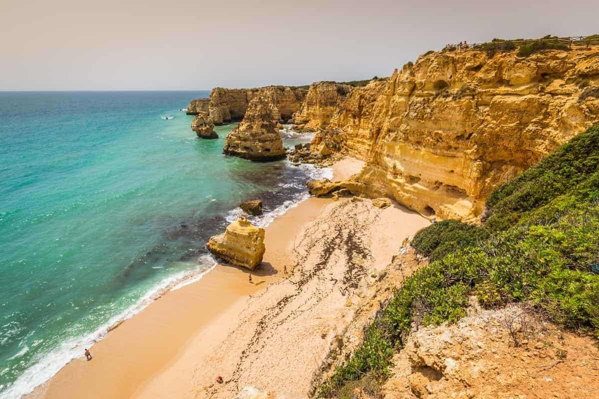 best beaches to visit in europe praia marinha algarve portugal