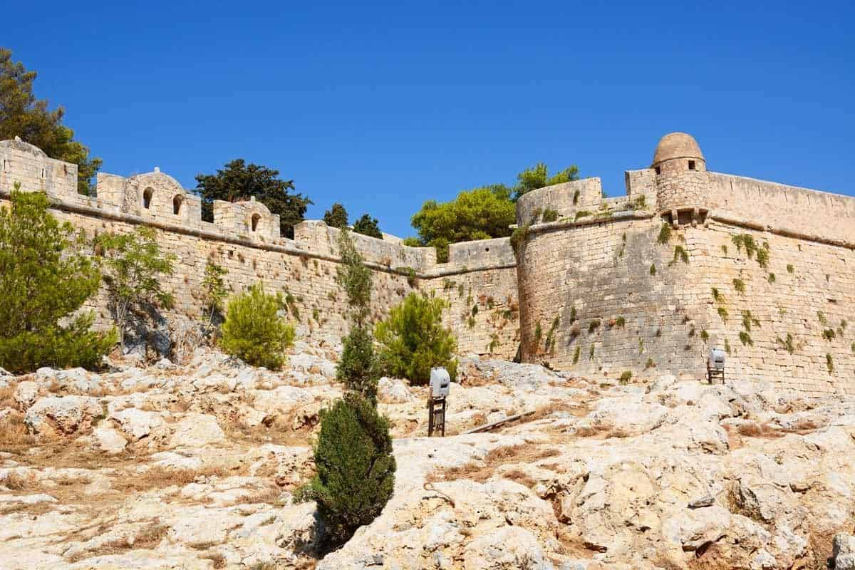 castles in greece fortezza of rethymno