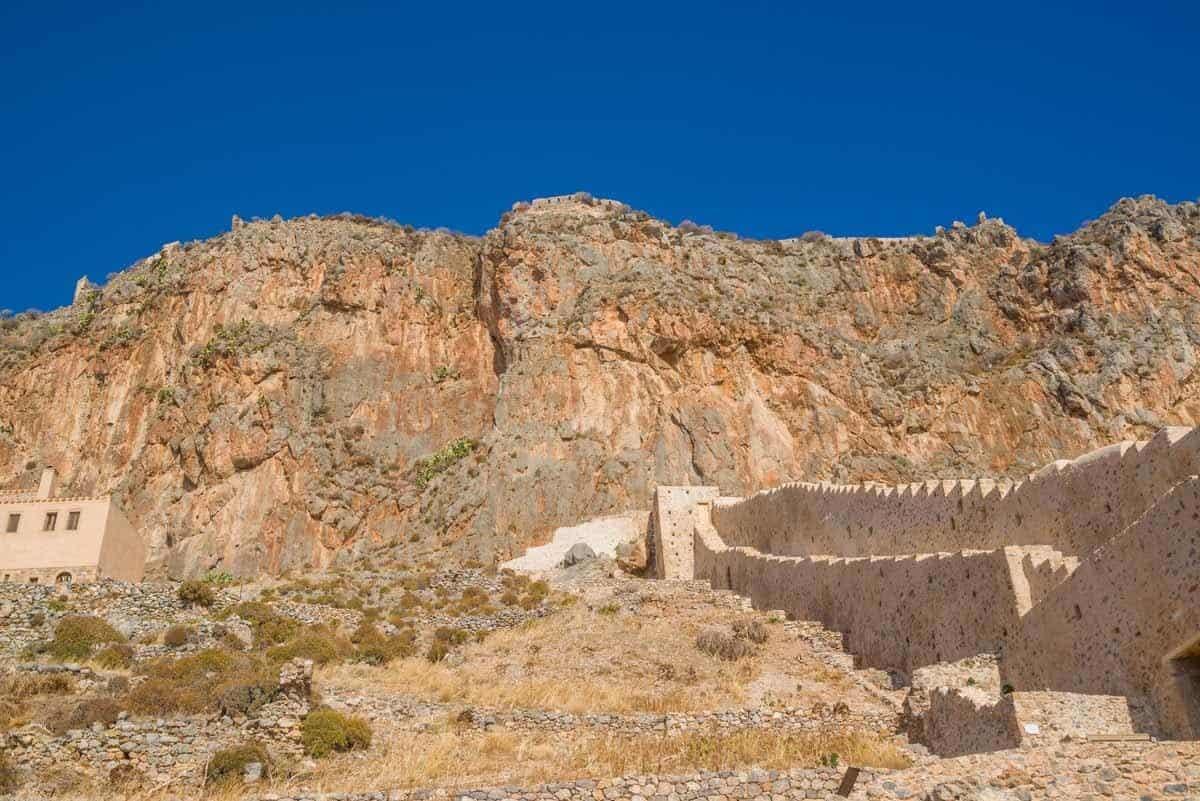 castles in greece monemvasia