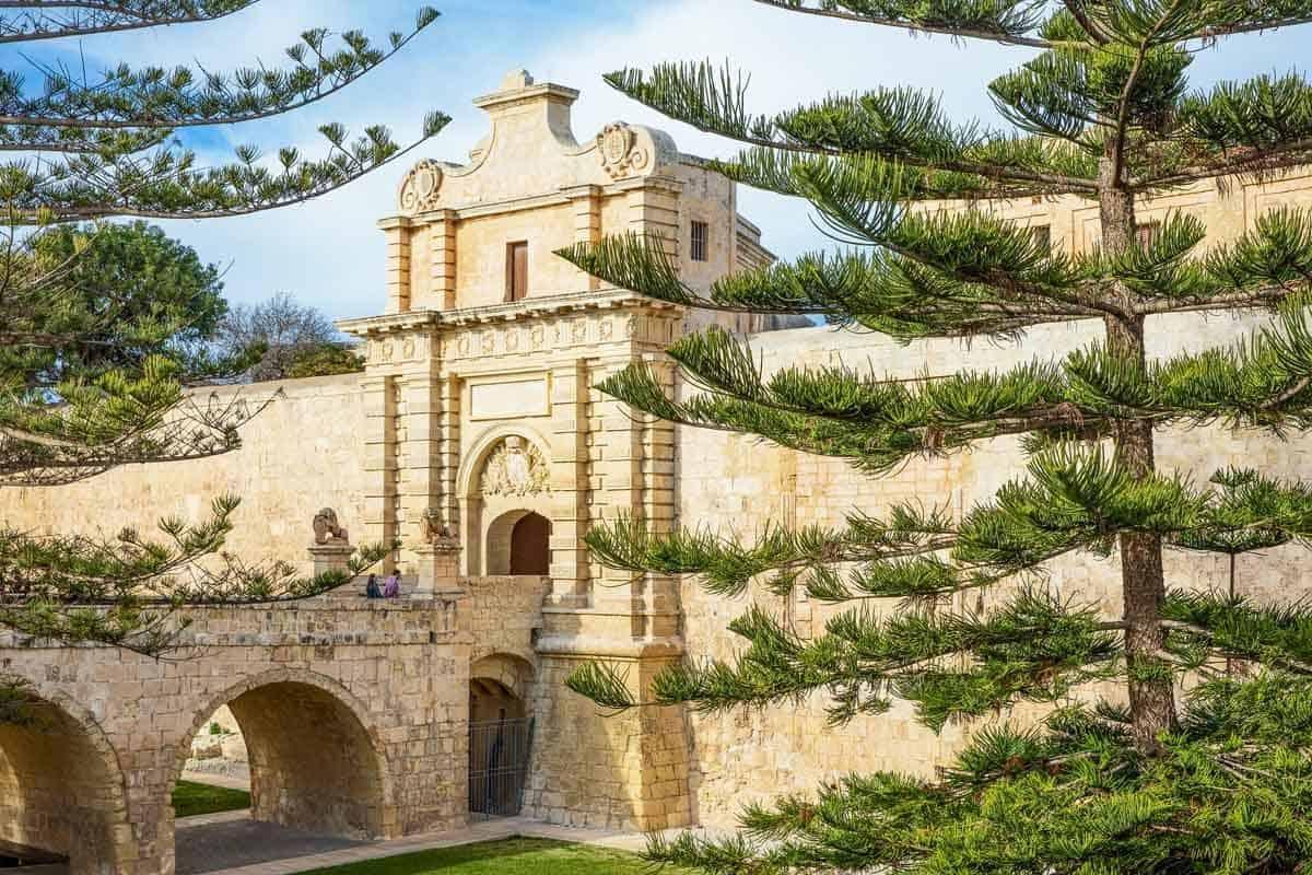 castles in malta mdina fortifications castellu di la chitati