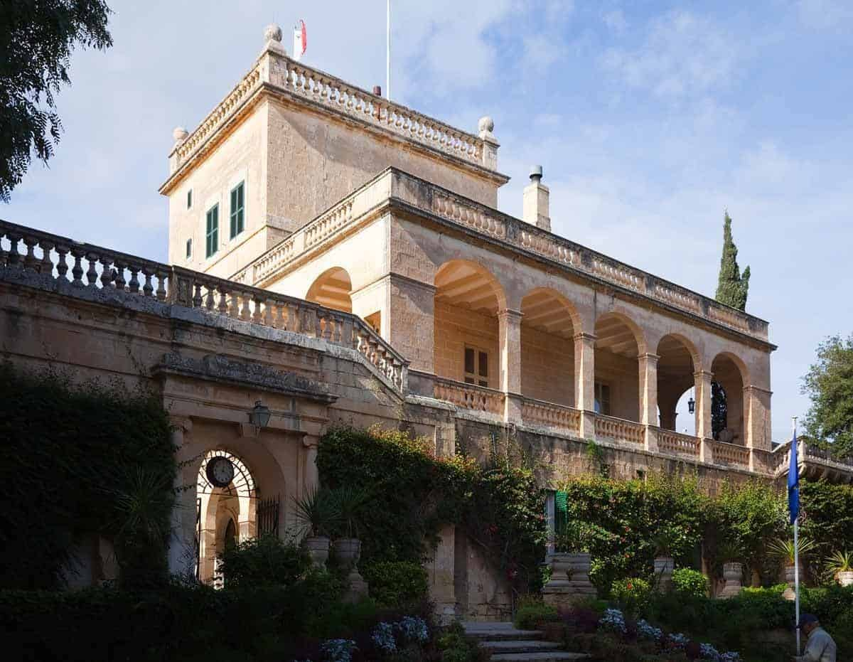 castles in malta san anton palace