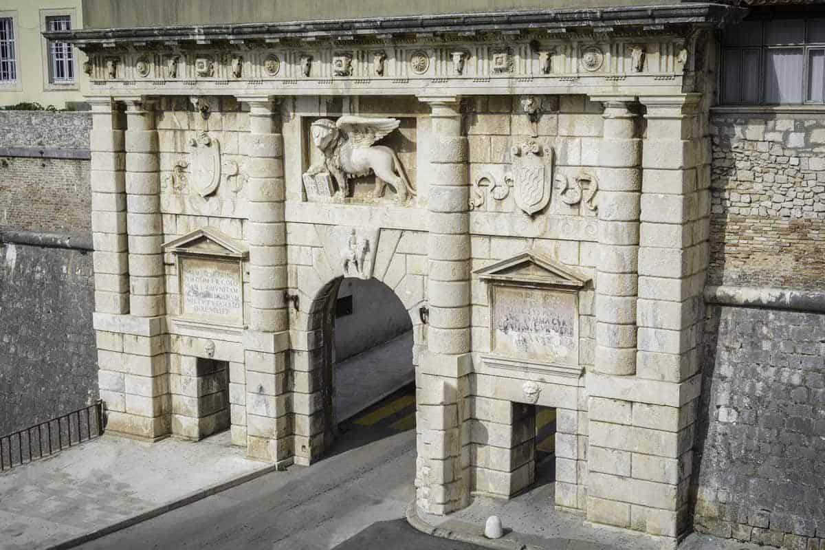 top tourist attractions in zadar croatia fosa land gate