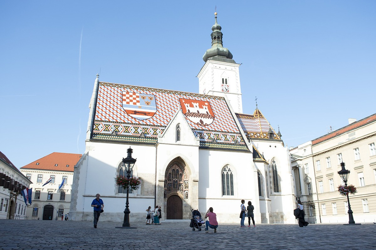 Things to do in Zagreb Croatia St. Mark's Church